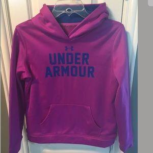 EUC Under Armour Hoodie Sweatshirt YLG